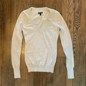 Express Fitted Shimmer Sweater